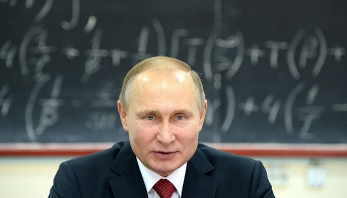 Путин в школе